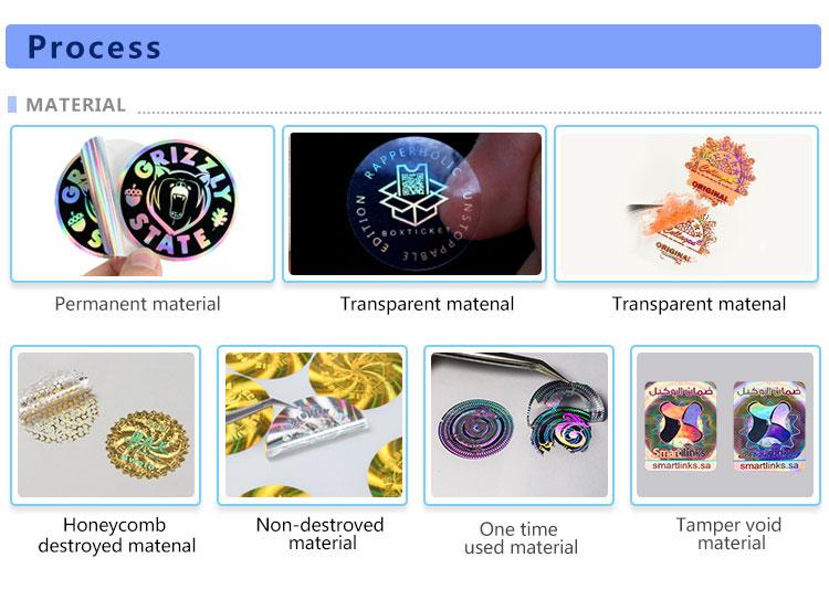 Tilpasset utskrift av glitterklistremerke, holografiske regnbue transparente etiketter